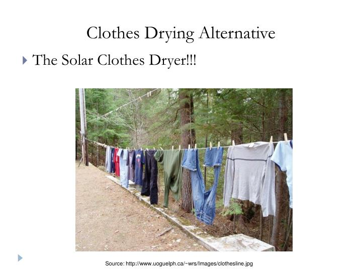 Clothes Drying Alternative
