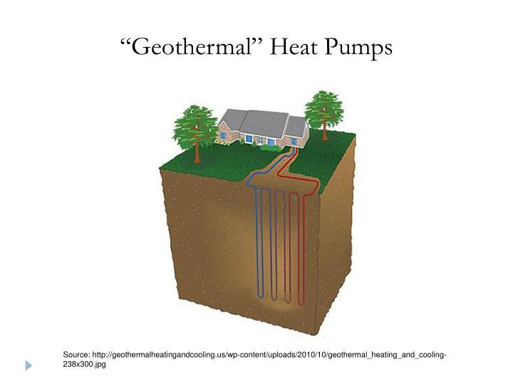 """""""Geothermal"""" Heat Pumps"""