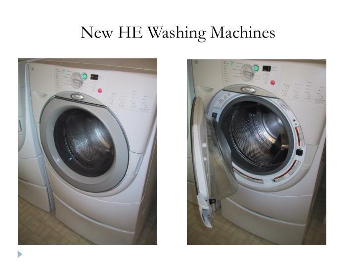 New HE Washing Machines