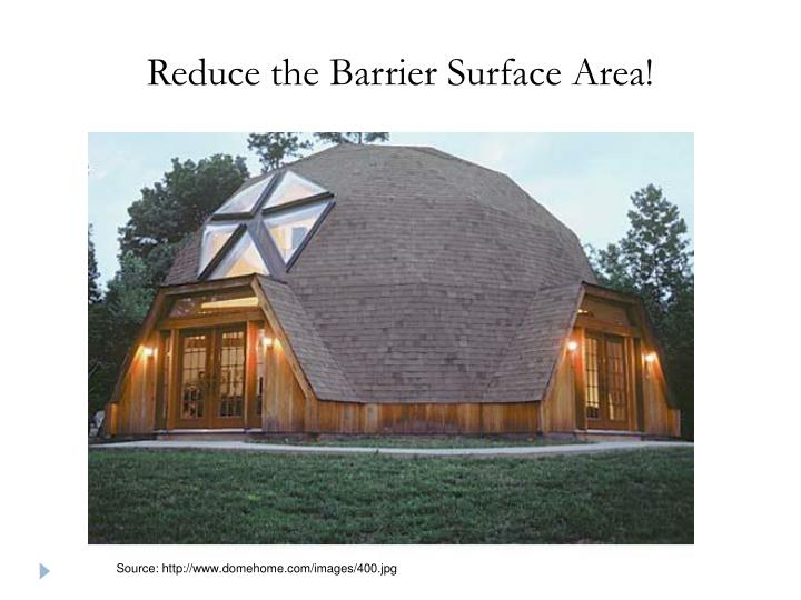 Reduce the Barrier Surface Area!