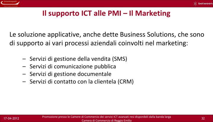 Il supporto ICT alle PMI