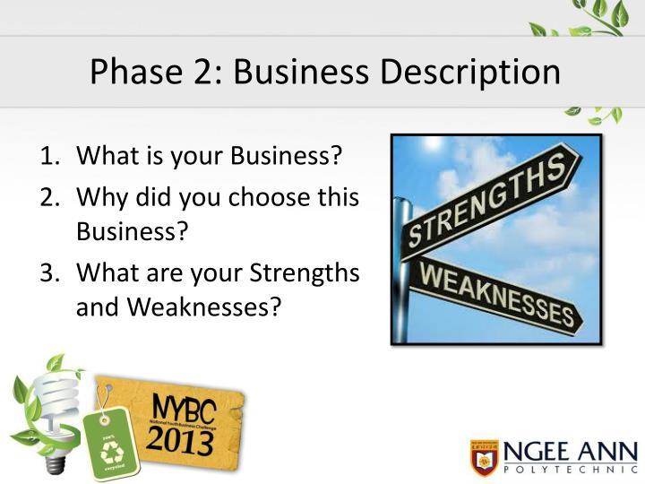 Phase 2: Business Description