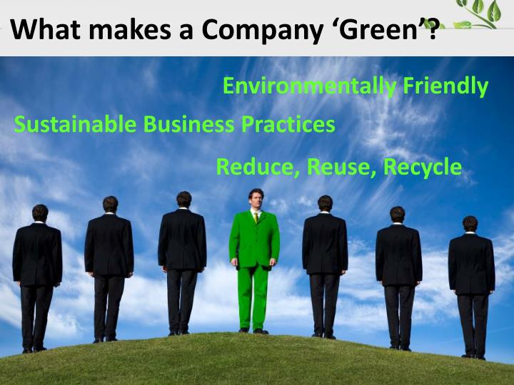 What makes a Company 'Green'?