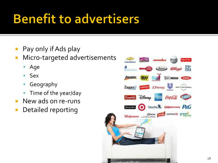Benefit to advertisers