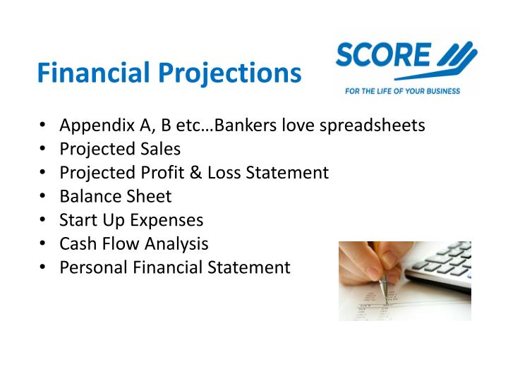 Appendix A, B etc…Bankers love spreadsheets
