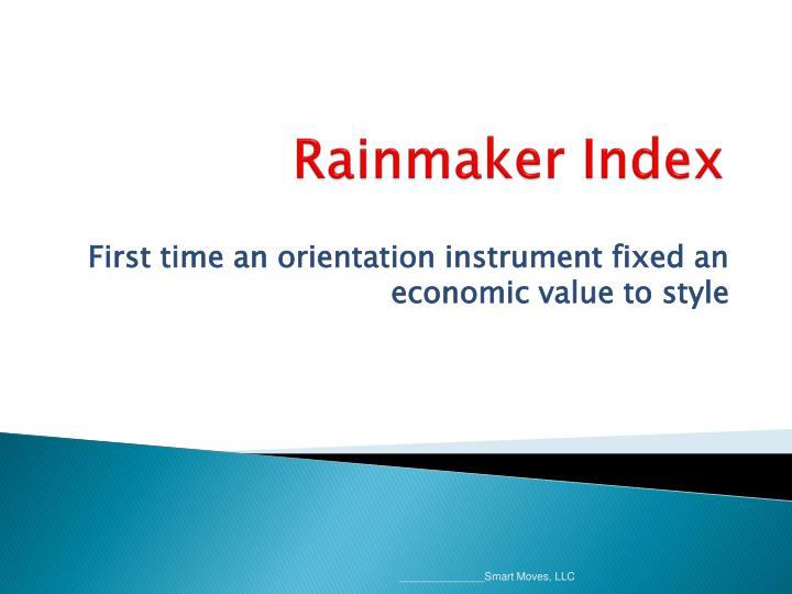 Rainmaker Index