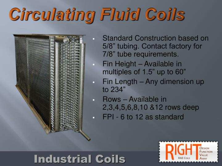 Circulating Fluid Coils