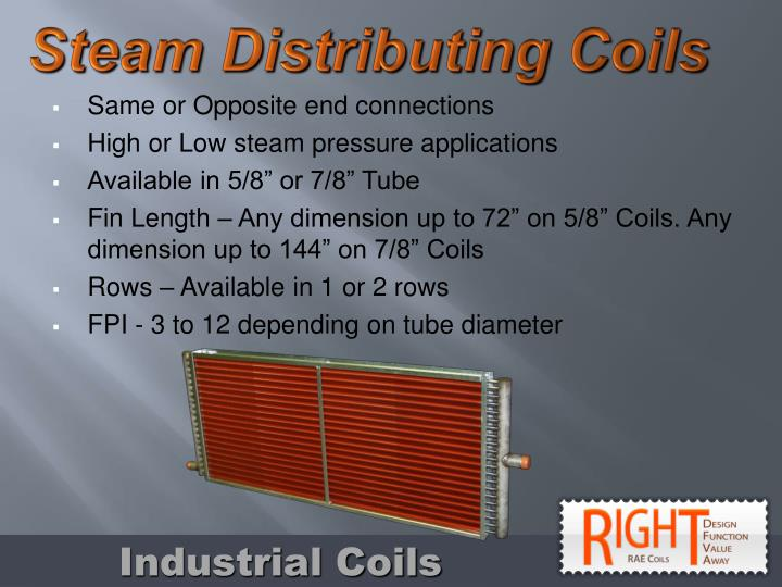 Steam Distributing Coils