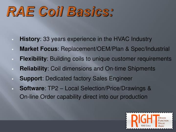RAE Coil Basics: