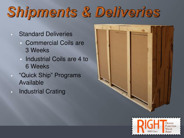 Shipments & Deliveries