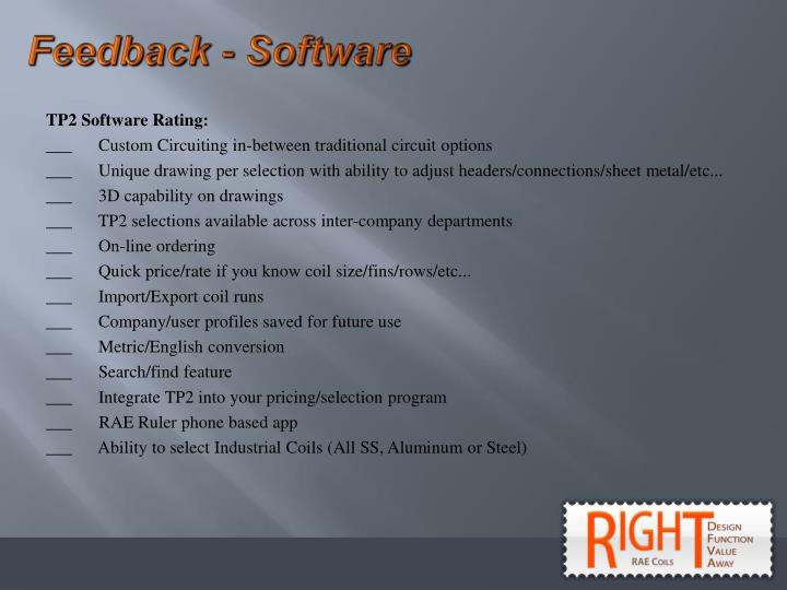Feedback - Software