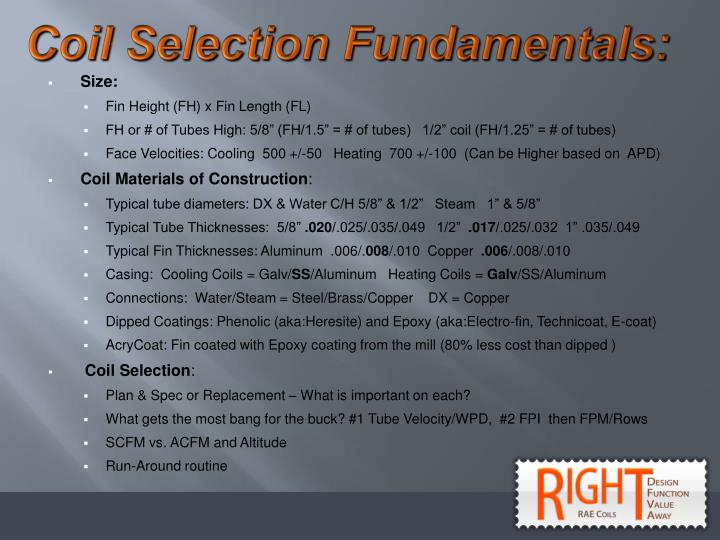 Coil Selection Fundamentals: