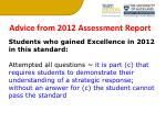 advice from 2012 assessment report1