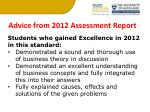 advice from 2012 assessment report2