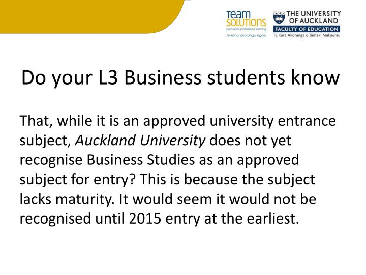 Do your L3 Business students know