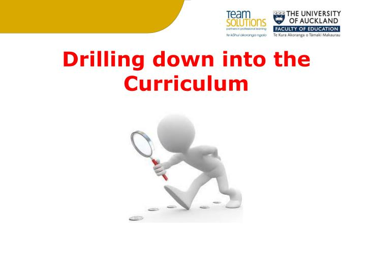 Drilling down into the Curriculum