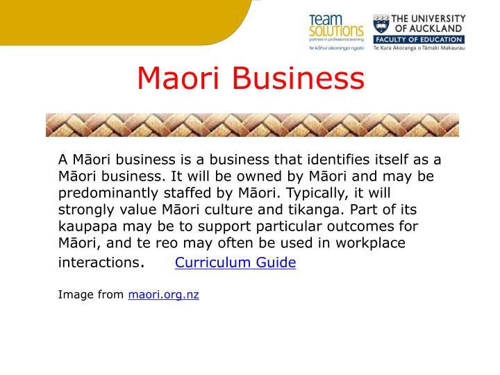 Maori Business