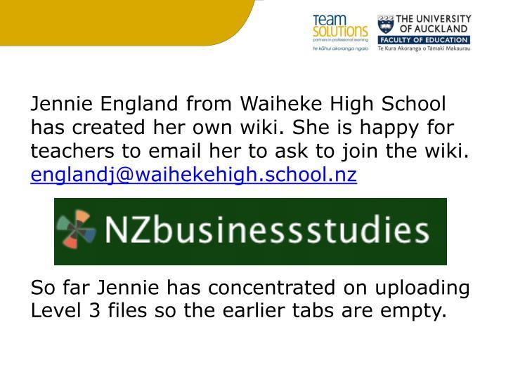 Jennie England from