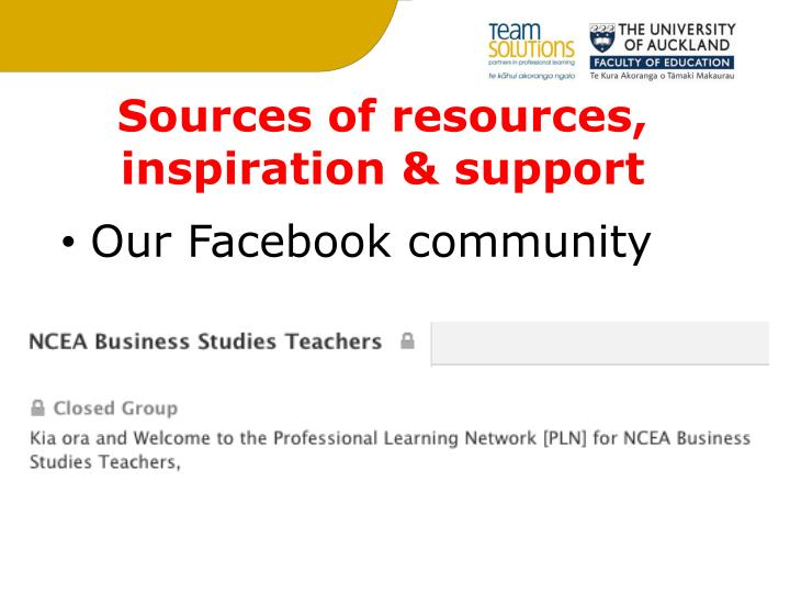 Sources of resources,