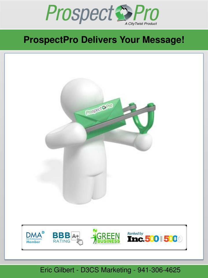 ProspectPro Delivers Your Message!