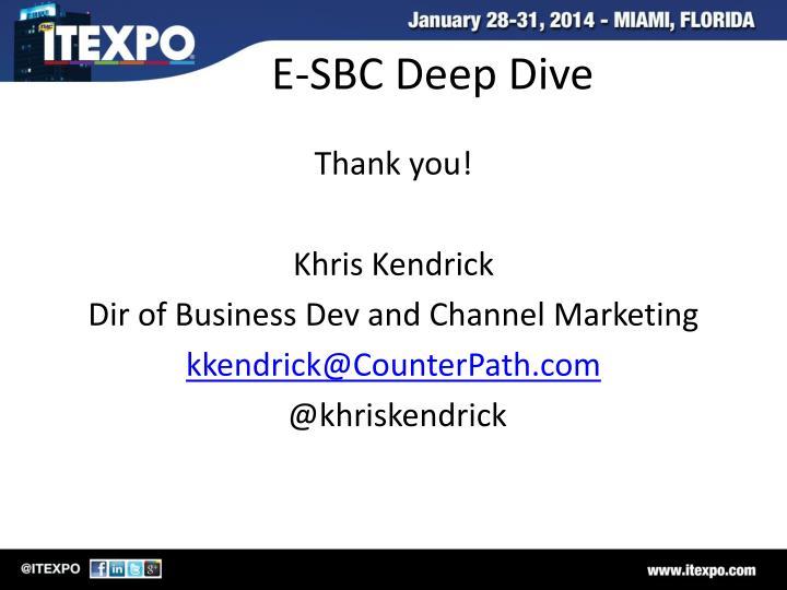 E-SBC Deep Dive