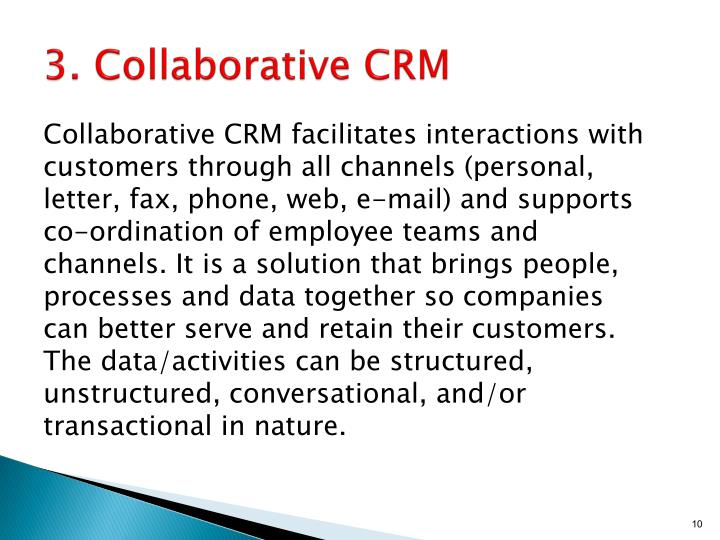 3. Collaborative CRM