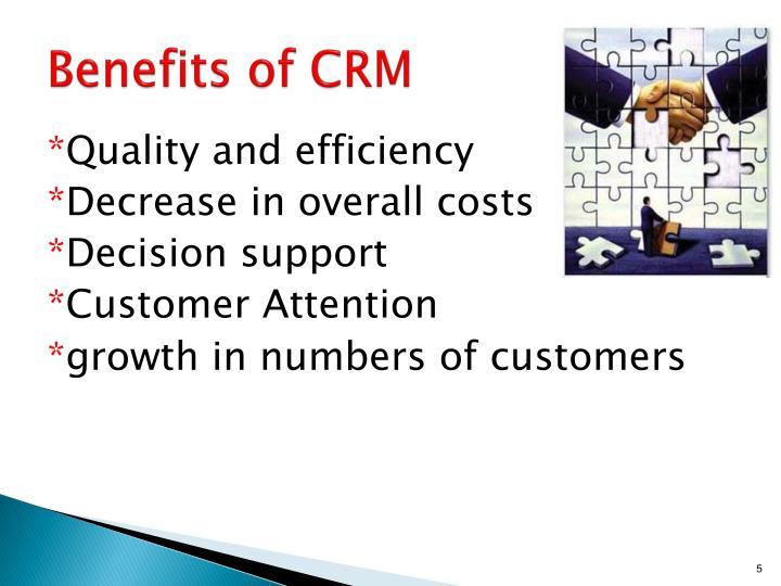 Benefits of CRM