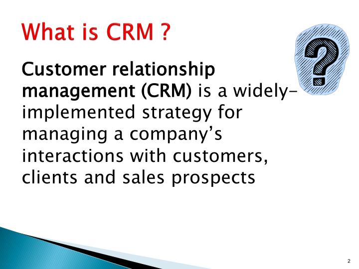 What is CRM ?