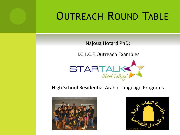 Outreach round table