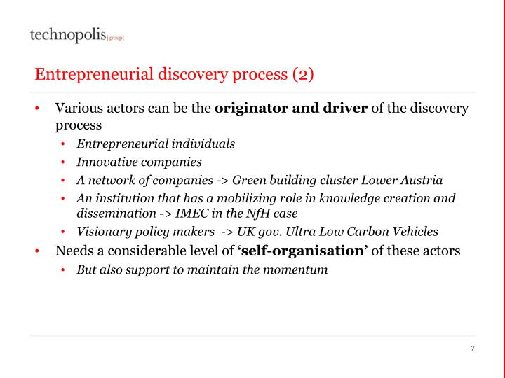 Entrepreneurial discovery process (2)
