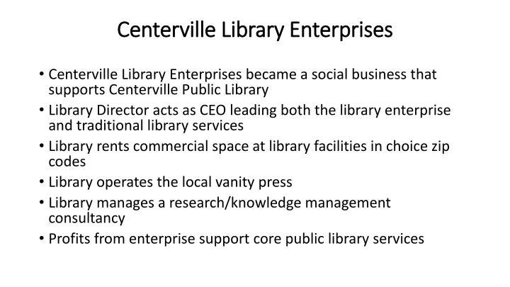 Centerville Library Enterprises