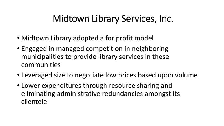 Midtown Library Services, Inc.
