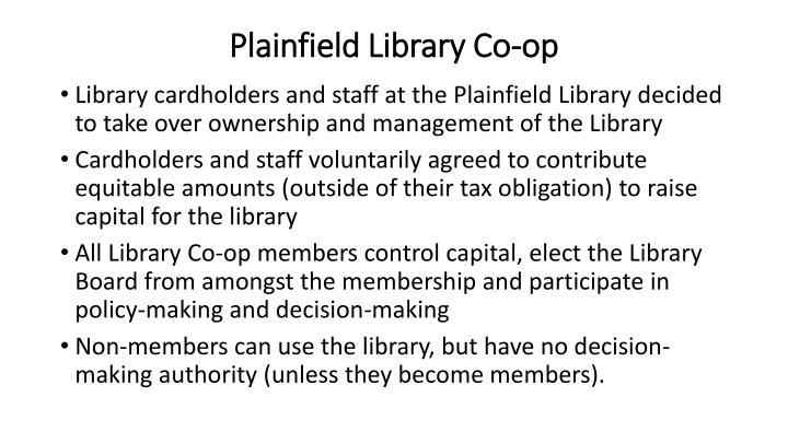 Plainfield Library Co-op