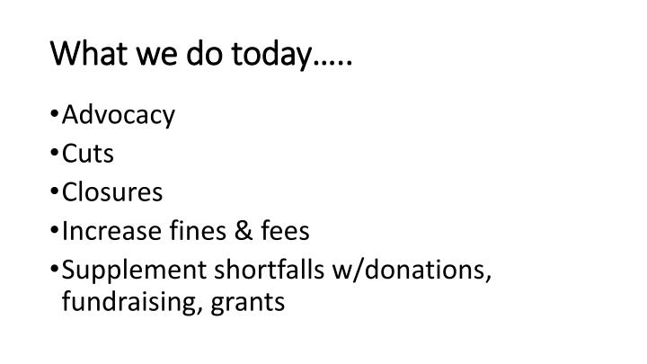 What we do today…..