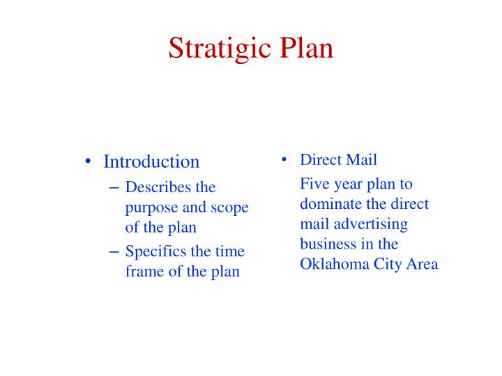 Stratigic Plan