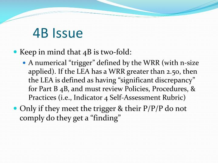 4B Issue