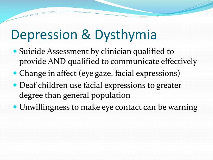 Depression & Dysthymia