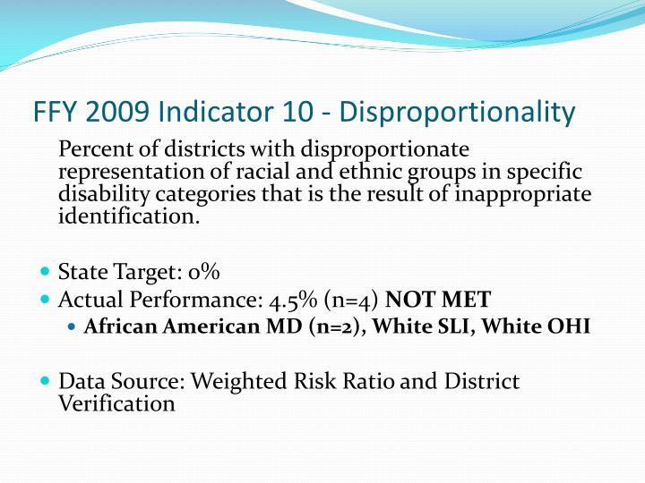 FFY 2009 Indicator 10 -
