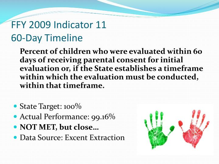 FFY 2009 Indicator 11