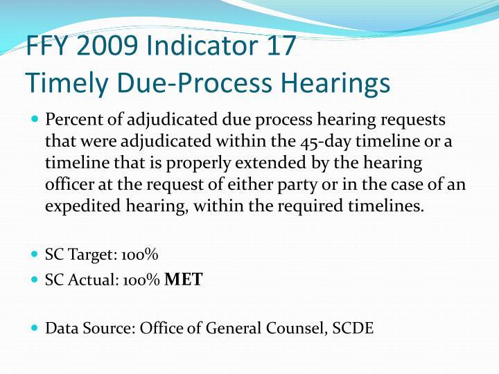 FFY 2009 Indicator 17