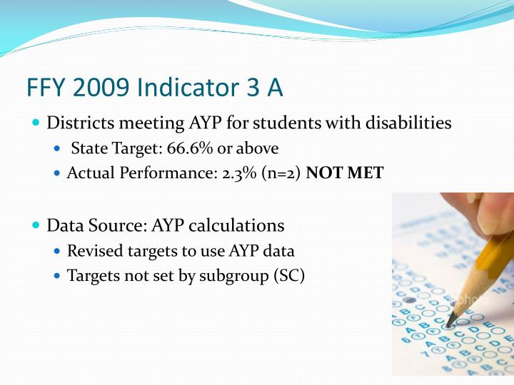FFY 2009 Indicator 3 A