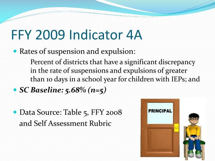 FFY 2009 Indicator 4A