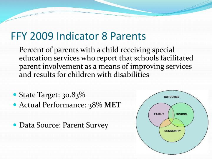 FFY 2009 Indicator 8 Parents