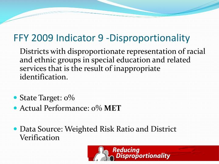 FFY 2009 Indicator 9 -