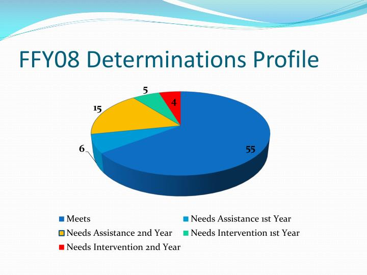 FFY08 Determinations Profile