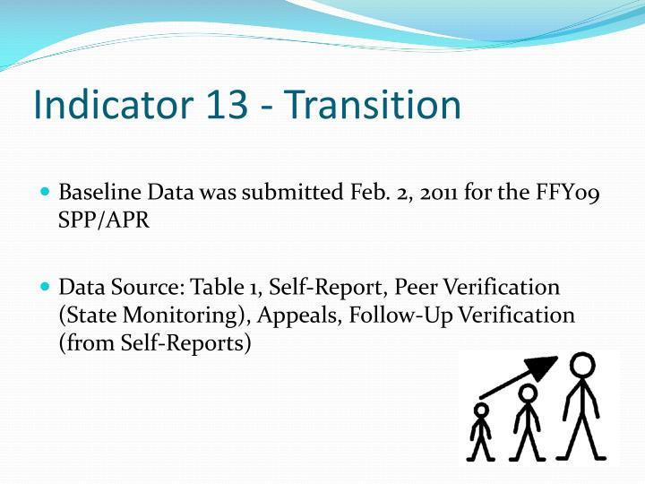 Indicator 13 - Transition