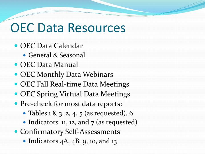 OEC Data Resources