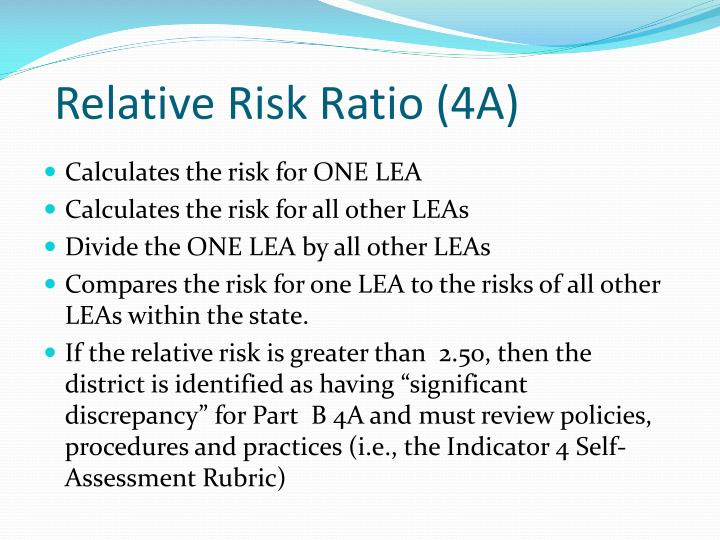 Relative Risk Ratio (4A)