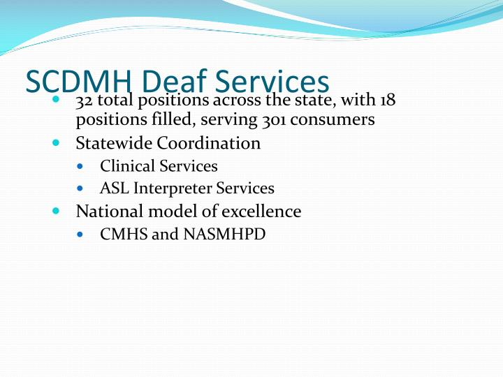 SCDMH Deaf Services