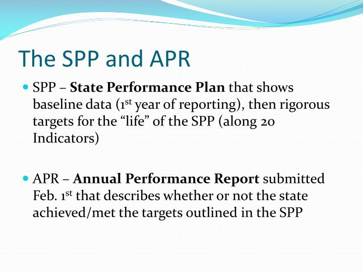 The spp and apr